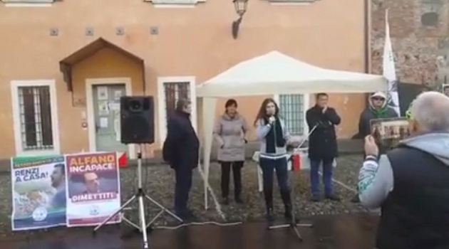 VIDEO / Manifestazione NO clandestini a Pompiano