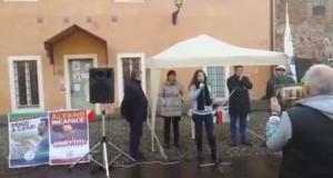 VIDEO / Manifestazione NO clandestini a Pompiano